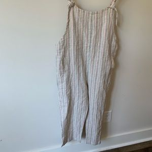 Olivaceous striped vici dolls overalls small